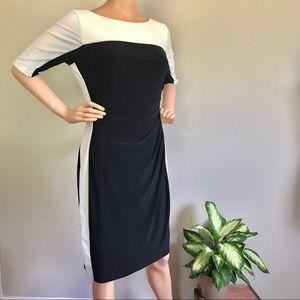 RALPH LAUREN Women's Essentials Colorblock Dress